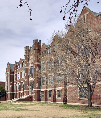 The former Christian Brothers College High School, in Clayton, Missouri, USA - exterior front