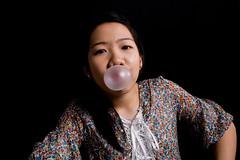 Bubblegum delight (julesactually) Tags: portraits studio blow shelly jules bubblegum juju crc