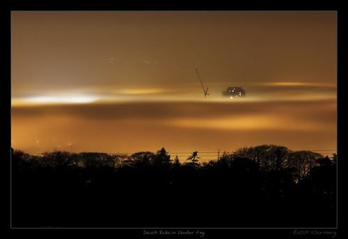 Dublin Under Fog