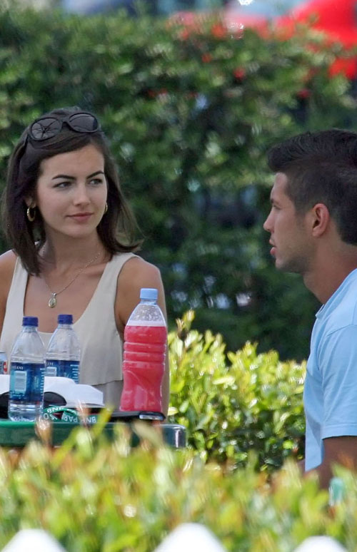 Camilla Belle & Fernando Verdasco Enjoying Each Other's Company At ATP Tournament (USA AND CANADA ONLY)