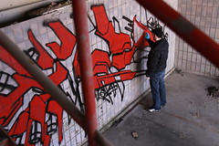 (the-wasteds) Tags: vienna wien art graffiti austria 3d freestyle style canvas sniper wtc graff bombing wildstyle handstyle phoner saner wasteds sniper1wtc