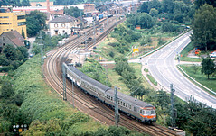 "Gundelsheim - ""Push-Pull"" Train (roger4336) Tags: railroad station train germany deutschland db 1989 neckar heilbronn gundelsheim deutschebundesbahn silberling"