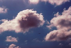(Emma Werderman) Tags: blue shadow sky sunlight clouds plane fly cotton nuvens