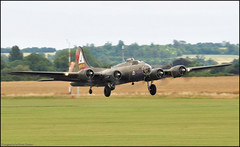 Boeing B17-G Flying Fortress - Pink Lady (Si 558) Tags: pink museum lady flying war b17 legends ww2 duxford imperial boeing bomber fortress 2009 warbird iwm