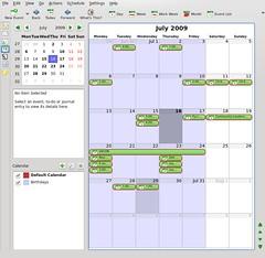 Kontact Calendar