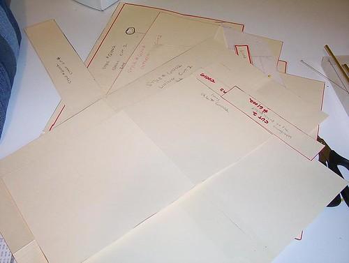 pattern #61002 on manilla paper