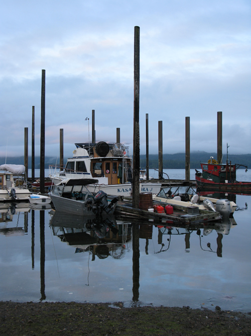 minus tide at Kasaan Harbor, Kasaan, Alaska
