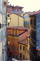 Street in Trieste (paronsuren) Tags: voyage street city travel light people urban italy streets color building tourism lamp architecture buildings dark outside lights evening site europe cityscape exterior view darkness time outdoor side group sightseeing illuminations cities cityscapes illumination scene spot front tourist tourists spots journey destiny seeing destination persons traveling scenes touring travelers multitude journeys trieste groups sites traveler exteriors municipality destinations multitudes municipalities thoroughfare thoroughfares