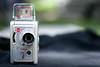 Kodak Brownie Movie Camera (victoria.anne) Tags: camera red black green love 1955 yellow vintage movie kodak bokeh used brownie lovely hehe vv thanksmom myaddiction mycameracollection verycoololdmoviecamera putsyourfamilyinthemovies