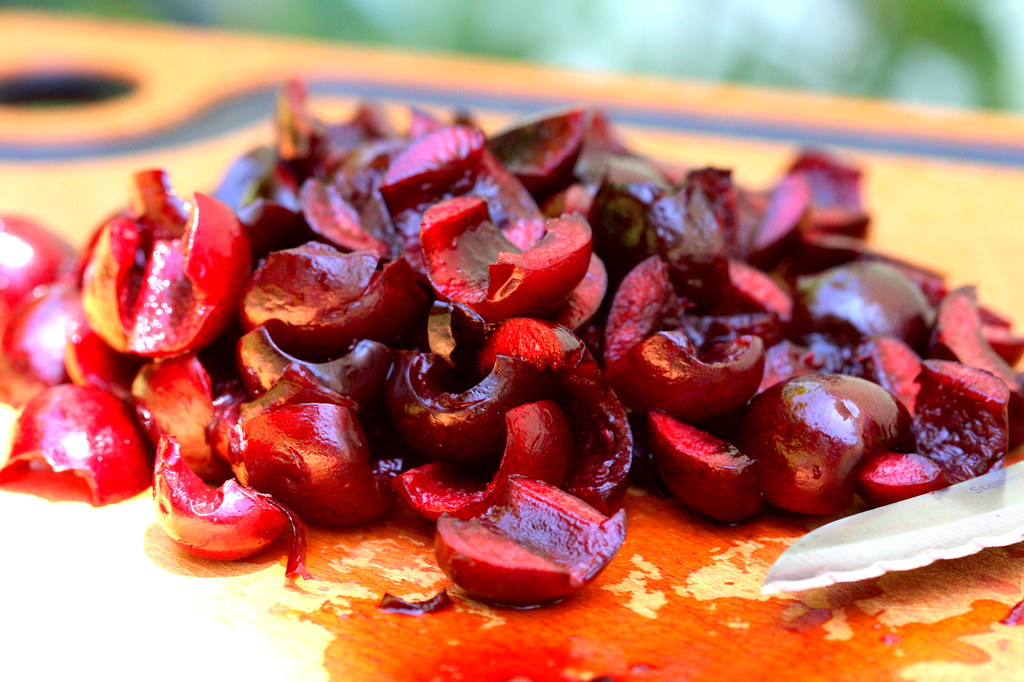 Pitted, Sliced Cherries