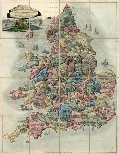 Wallis's Picturesque Round Game of the Produce & Manufactures of the Counties of England & Wales (raremaps)