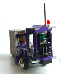 Wonka Lifter rear. (Craig 'Lego' Lyons) Tags: purple lego chocolate vehicle wonka willy forklift loompa oompa