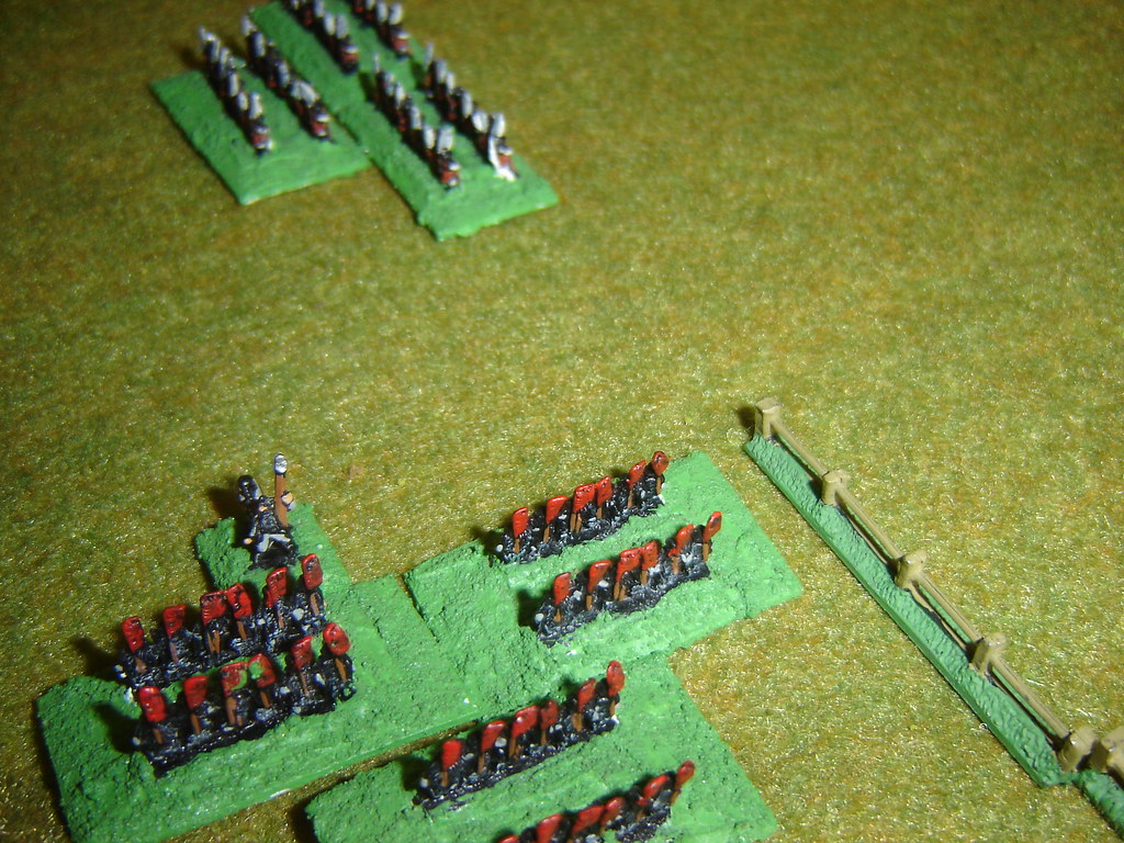 Takeda Samurai advance on Oda unit's flank
