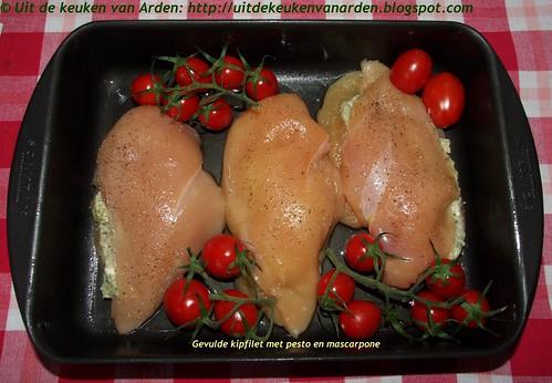 Gevulde kipfilet met pesto en mascarpone