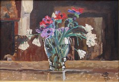 Anmones dans un vase, 1933 (Chamant) Tags: stilllife france flower art fleur painting belgique aquarelle fineart paintings lot dordogne peinture canvas painter oil impressionism chteau georges impressionist emile oilpainting castel naturemorte peintre belge frenchriviera quercy oise impressionnisme postimpressionism impressionniste peinturelhuile chamant peintrebelge postimpressionniste lebacq georgesemilelebacq georgesmile belgianpainter georgeslebacq