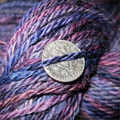 Nocturne Falkland yarn, close up