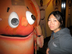 Crazy Crab and me (mariko) Tags: baseball giants crazycrab attpark