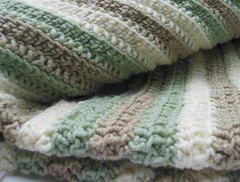 Crochet Baby Blanket_8538 (DonidoDesigns) Tags: baby brown green art beige toddler infant babies handmade robe crochet cottage stripe tan cream knit craft sage yarn homemade earthy blanket afghan handcrafted accessories etsy knitted crafty crocheted infants throw babyblanket earthtones cic lapblanket lapghan cicteam craftingincolor