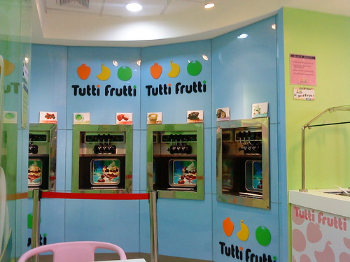 tutti frutti frozen yogurt machine
