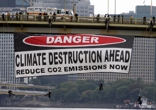 Caution. Climate Destruction Ahead.