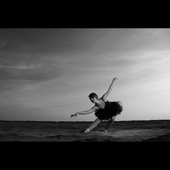 Ballet Dancer (K3m.) Tags: ballet woman sun girl clouds canon eos dance dress desert dancer flashlight soce taniec dziewczyna chmury balletdancer kobieta k3m 50d suknia sukienka pustynia strobist ex580ii k3em pocketwizardtransceiverplusii seppedlight efsf35561855mmis marc