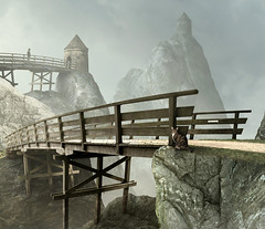 preparation II (Mattijn) Tags: bridge tower rock landscape hoody photomontage pino mattepainting annashoeve max3ton