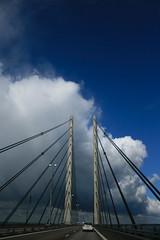 The bridge (EnJork) Tags: road bridge copenhagen denmark skne sweden pylon malmoe sverige bro danmark malm bron vg resund resundsbron kpenhamn pyloner resunds