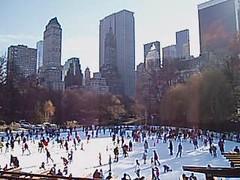 Central Park (jane_sanders) Tags: newyorkcity nyc newyork manhattan centralpark park wollmanrink iceskating icerink sherrynetherland hotel generalmotorsbuilding sonybuilding attbuilding trumptower plazahotel plaza solowbuilding