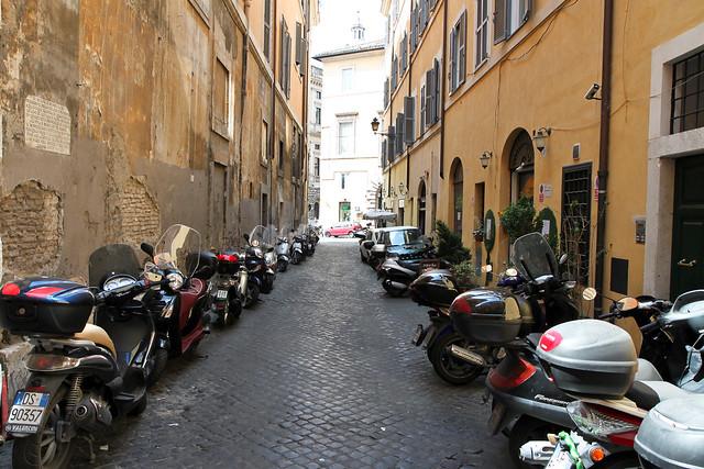 Rome. Motorbikes