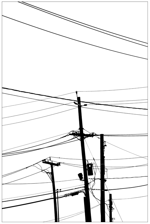 Nathan Harger, Untitled (Power Lines), Elizabeth, NJ 2008