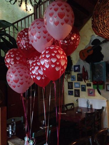 Tafeldecoratie 3ballonnen Valentijnsdag Maxima Dos Spijkenisse