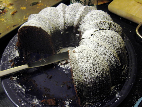 Bourbon Chocolate Bundt Cake