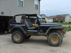 1992 Jeep Wrangler YJ on 35s (gwarjeep) Tags: red river lift jeep mud 4x4 kentucky gorge kit yj tj goodyear mtr wrangler