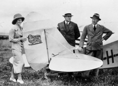 Aviatrix Nancy Bird and her new plane (Leopard Moth) the day before she left for Bourke with the managing director and manager of Vita-Lick Ltd - Sydney, NSW / by unknown photographer (State Library of New South Wales collection) Tags: hat promotion plane airplane sponsored women sheep aircraft aviation tail airplanes hats advert aviators pilots aeroplanes dhc 1935 managers dehavilland aviatrix leopardmoth pithhelmets statelibraryofnewsouthwales vitalick nancybird xmlns:foaf=httpxmlnscomfoaf01 womensclothingaccessories woolindustry dh85 nancybirdwalton acblaxland jjmackey mygoditsawoman vhuug vitalickltd companydirectors dehavillanddh85leopardmoth foaf:depicts=httpnlagovaunlaparty634679