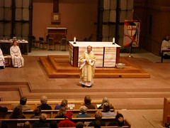 Bishop Robinson preaching at St. Mark's Cathedral