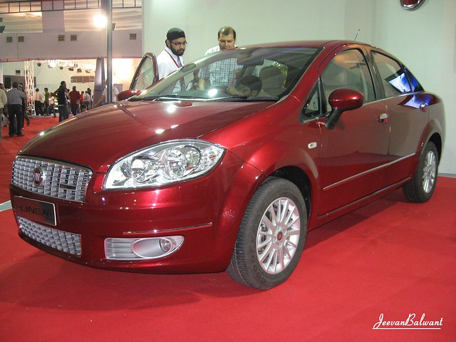 The FIAT Linea on display at the Mumbai International Motor Show 2009 held