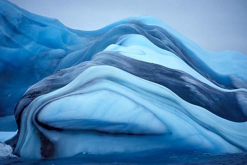 Colorful Antarctic Icebergs