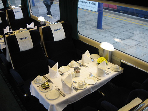 Train Chartering - First Class Pullman carriage, laid for breakfast