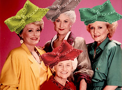 Golden Girls wearing Aretha's Hat