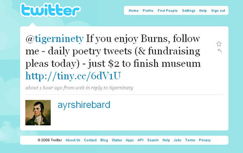 Twitter campaign for Robert Burns Birthplace Museum