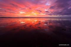 When the sky meet the sea (©Helminadia Ranford) Tags: pink sea sky bali reflection art beach nature colors beautiful clouds indonesia view horizon lovely kuta gado2 colorphotoaward goldstaraward abeautifulplanet wonderfulpresentfromgod