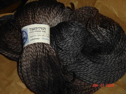 Blue Moon Fiber Arts Twisted  in Obsidian