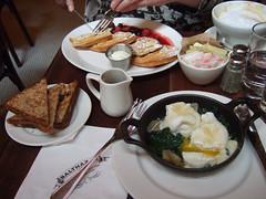 balthazar breakfast (alist) Tags: nyc soho waffles balthazar alicerobison drewharry