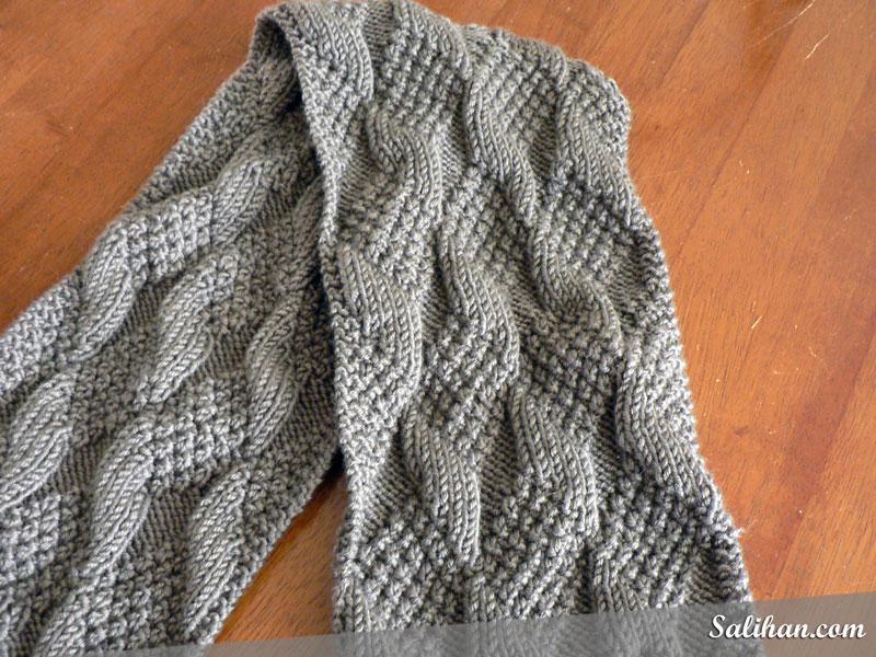 Knitted Asherton Scarf WIP