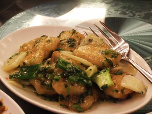 雪菜炒魚片