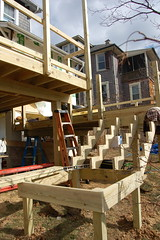 deck stairs coming along