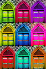 Pop Art with Mosque Gate Copy 1 (From Afghanistan With Loveّ) Tags: world travel afghanistan color photoshop gate play culture mosque pop popart dome islamic islamicarchitecture mazar balkh zeerak safrang hamesha javaid mosquegate