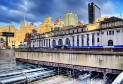 IN OUT IN OUT IN OUT IN OUT ... (Tony Shi Photos) Tags: nyc newyork postoffice lirr hdr pennstation acela njt blackvelvet newjerseytransit busiest longislandrailroad pennsylvaniastation  hudsonyards nikond700    thnhphnewyork  tonyshi