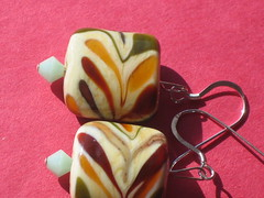 yet more lampwork earrings
