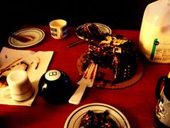 Afterglow (almas.music.train) Tags: birthday food cake milk chocolate ganache satisfaction turkishcoffee magic8ball tasseography divination